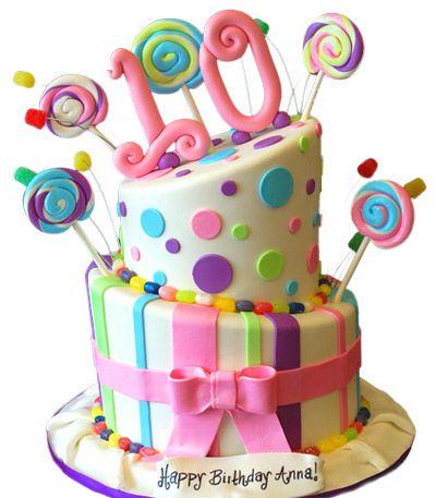 Cake2359 Jpg 400 457 Pixels 10 Birthday Cake Girl Cakes 13