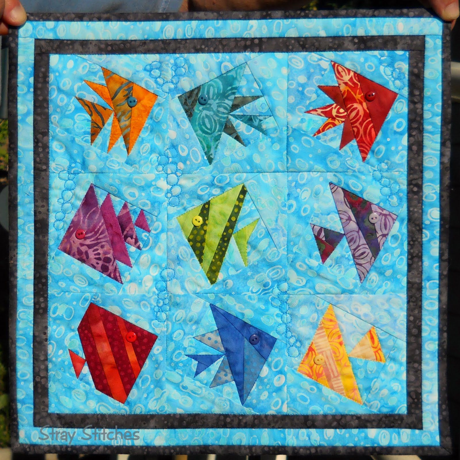 Free Fish Quilt Patterns Stray Stitches August 2012