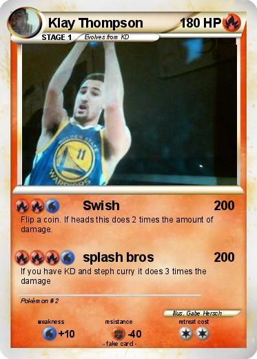 Fabuleux carte spiderman | Pokémon Klay Thompson 6 6 - Swish - My Pokemon  DN35