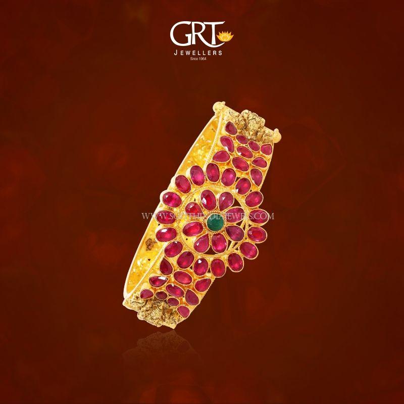 Gold Ruby Kada Bangle from GRT