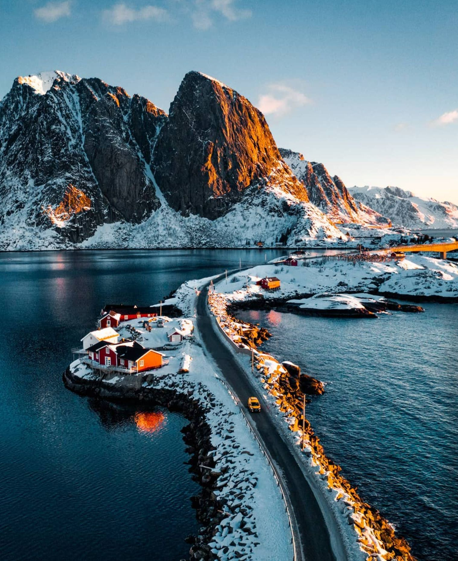 Photo of Snowy Hamnoy in Norway