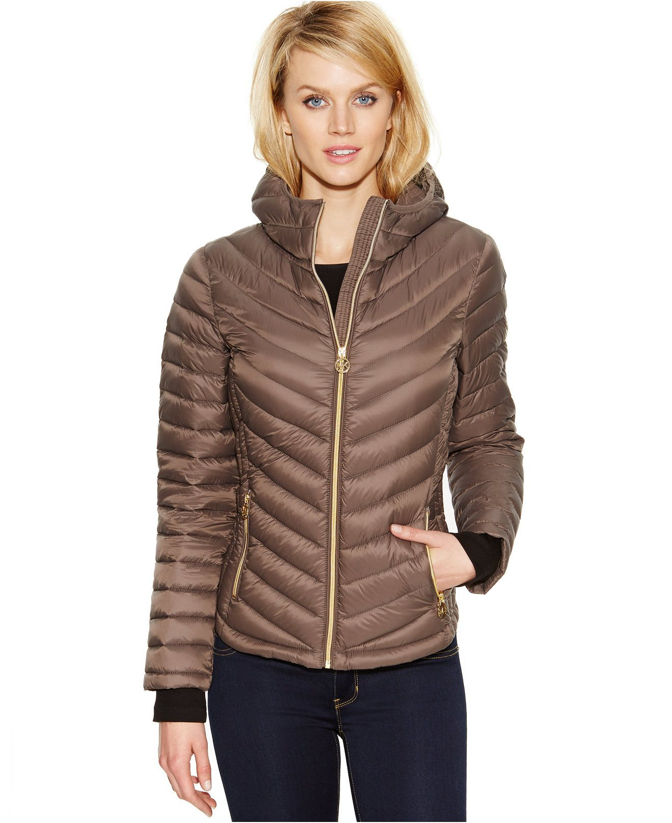 Michael Michael Kors Hooded Packable Down Coat Michael Kors Coats Jackets Women Macy S Michael Kors Coats Coats Jackets Women Coats For Women [ 1616 x 1320 Pixel ]