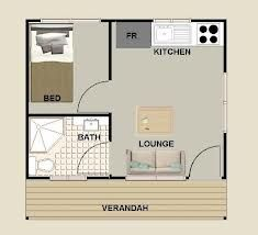 1 Bedroom Granny Flat Floor Plans Google Search Floor Plans Granny Flat Backyard Cottage