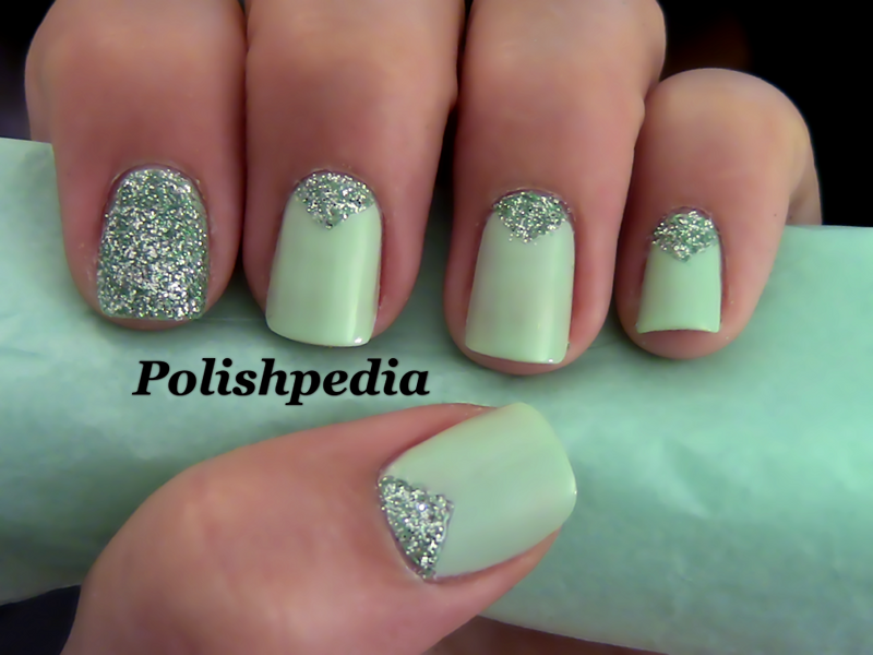 Triangle Nails with Glitter. I love how these nails turned out. They ...