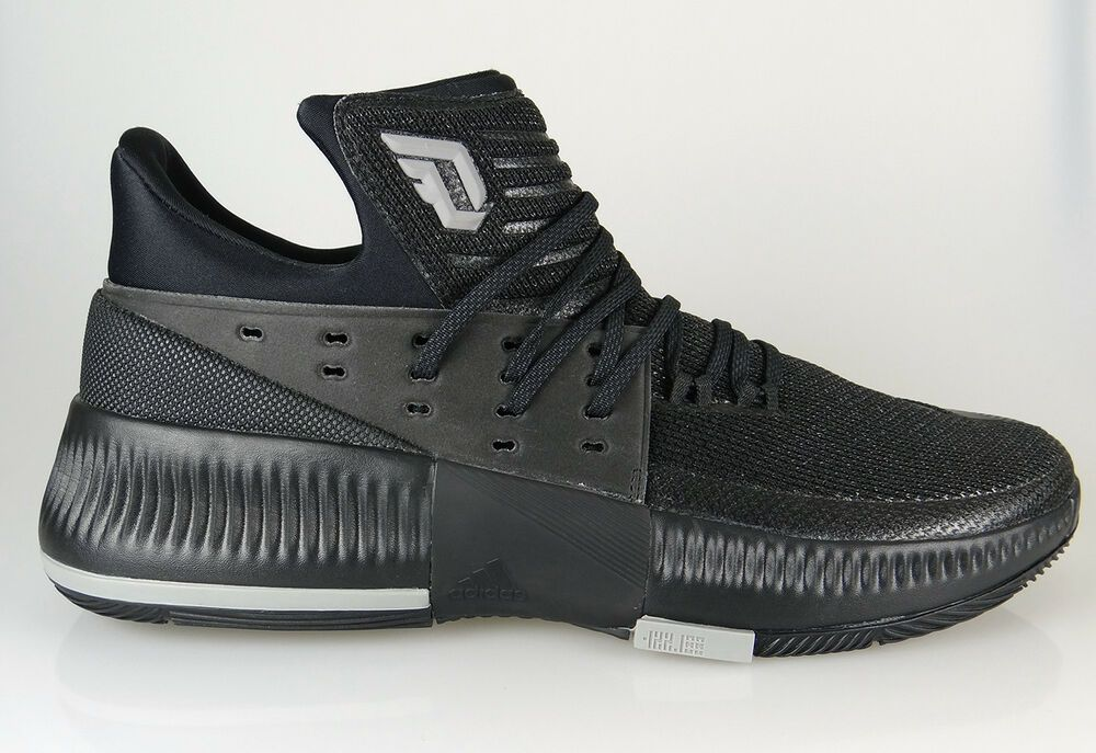 buy popular 9c5bc 74da9  BY3206  Mens Adidas Dame 3 Damian Lillard Basketball Sneaker - Black   eBay