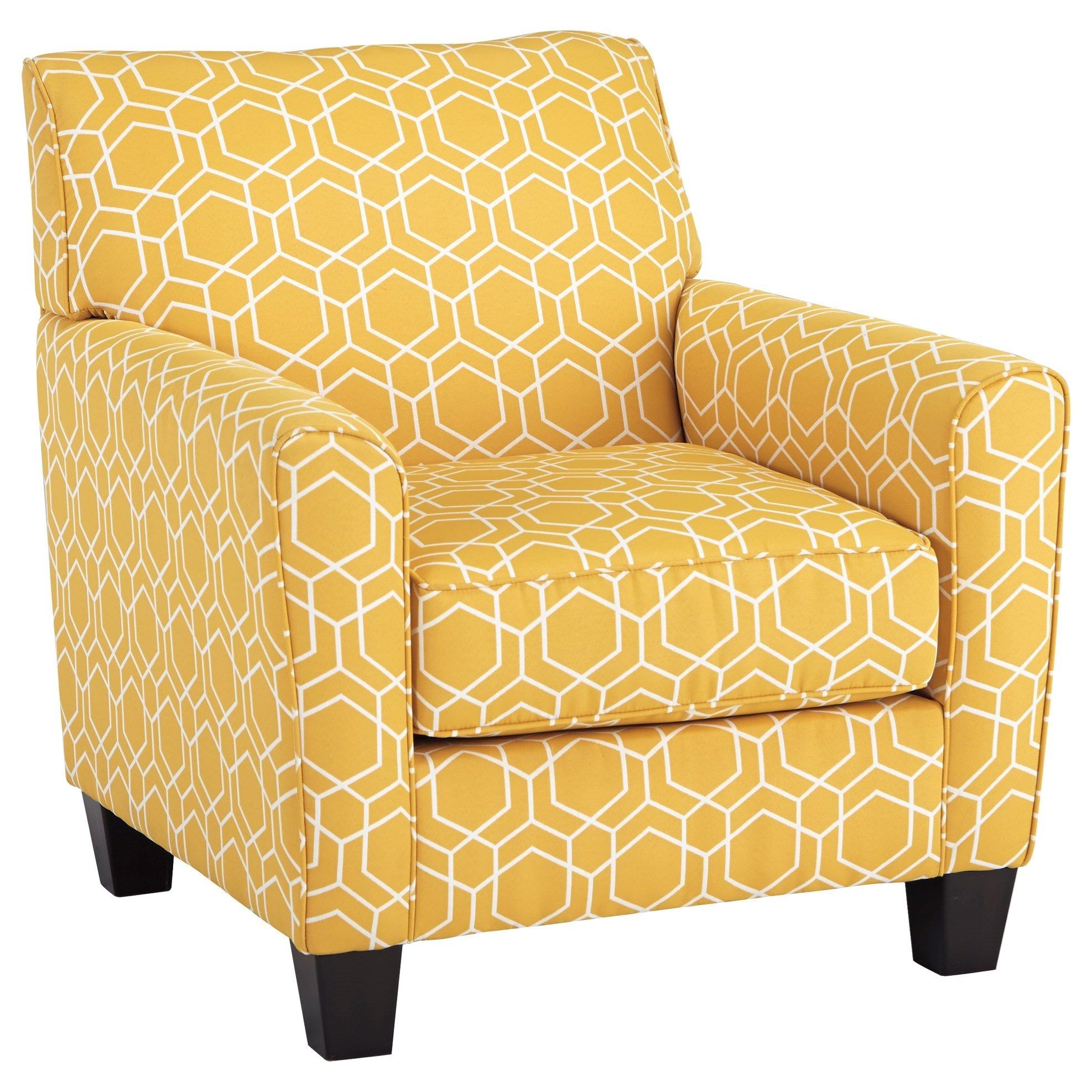 Ayanna Nuvella Accent Chair By Benchcraft At Del Sol Furniture Yellow Accent Chairs