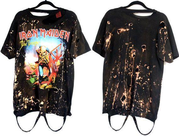 Iron Maiden Trooper starry sky by RockncomicsLA on Etsy