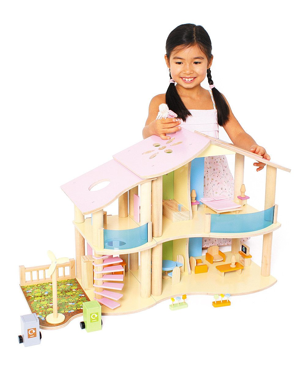 Take a look at this Two-Story Eco Dollhouse on zulily today!