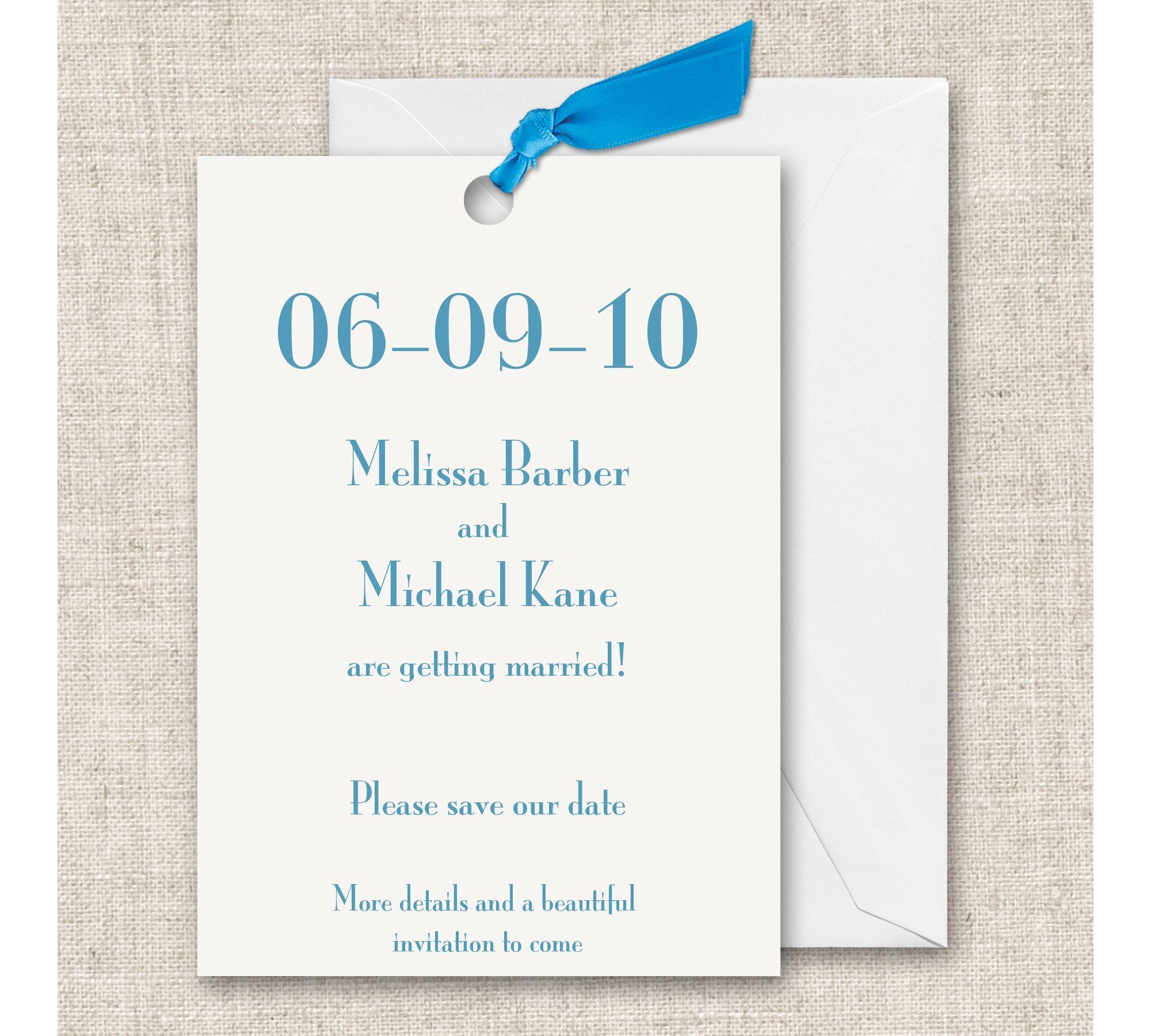 """I save the date vanno molto di moda negli USA, permettono agli ospiti di sapere che """"quel giorno"""" saranno impegnati, anche se gli sposi non hanno ancora deciso la location."""