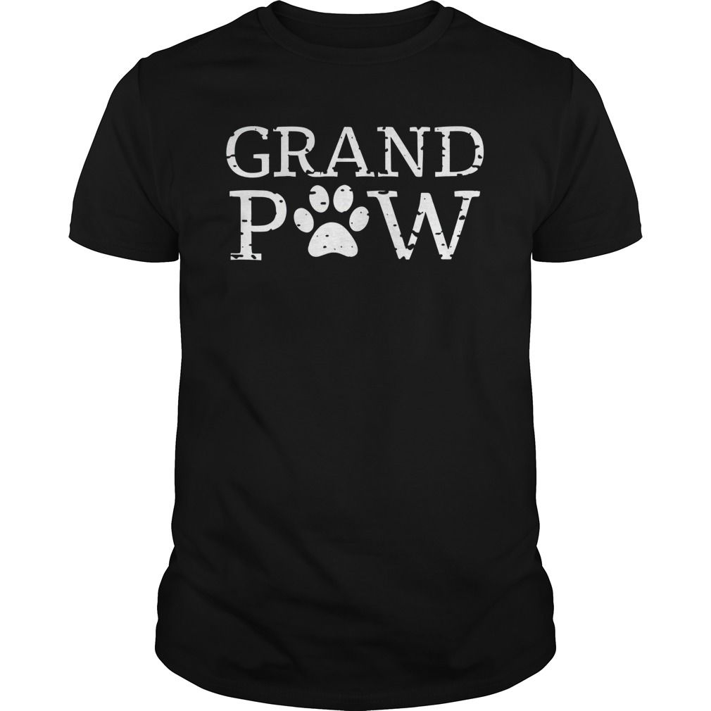 Funny Dog Shirt Grand Paw Doggy Puppy Lover Grandpa Vintage Dog