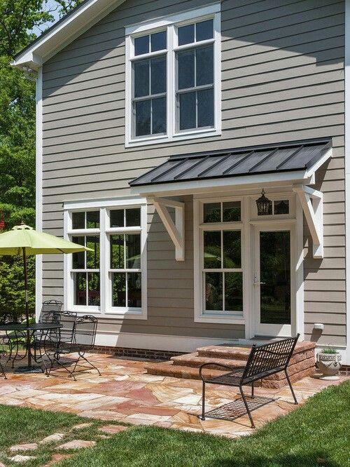 Door overhang   House awnings, Awning over door, Door overhang on Backyard Overhang Ideas id=73317