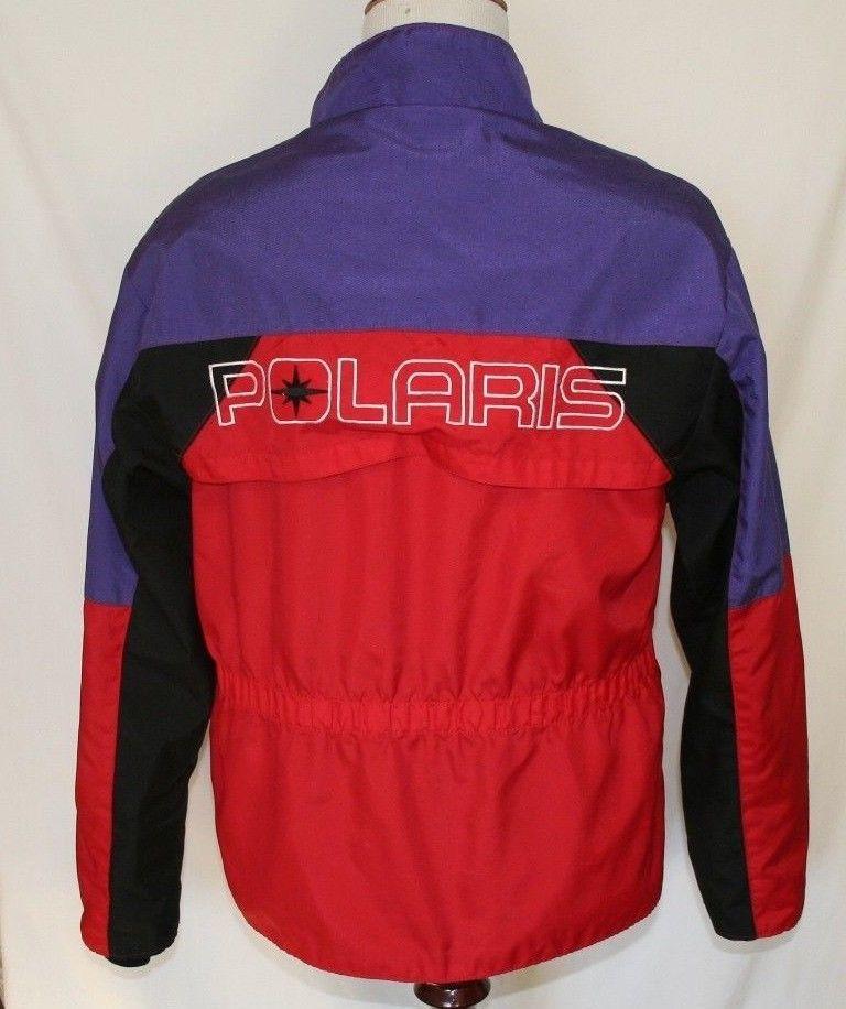 Vintage Polaris Large Snowmobile Jacket Purple Red and Black Nylon Made in USA   #Polaris #9.99auction #TheSmartShoppe