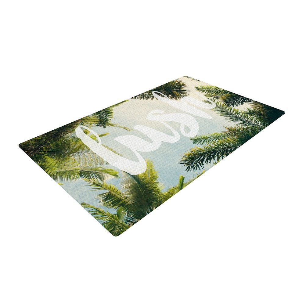 "Catherine McDonald ""Lush"" Nature Typography Woven Area Rug"