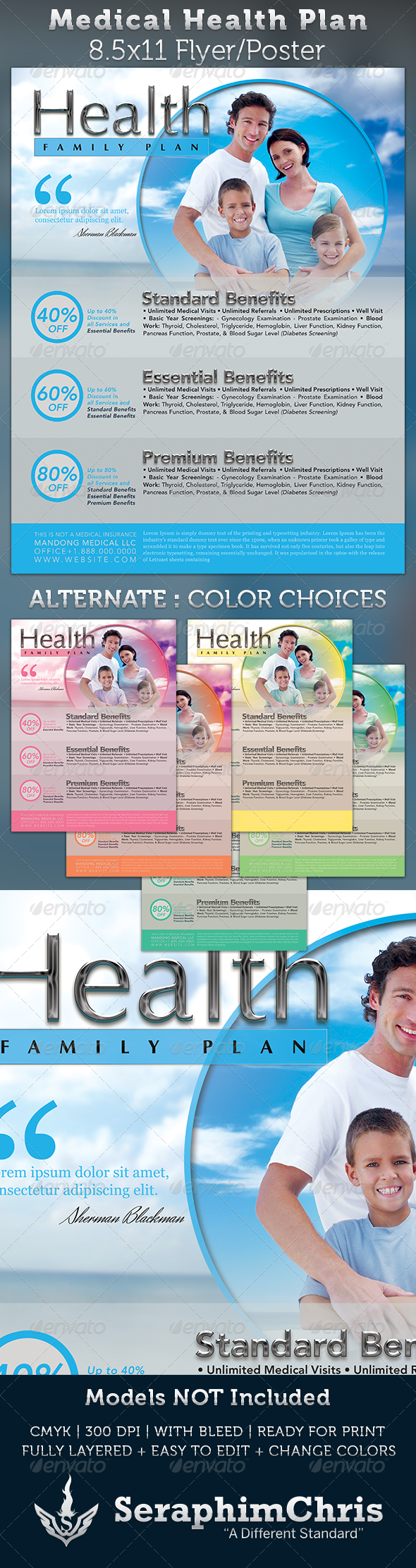 Medical Health Plan Flyer Template  Flyer Template Medical And