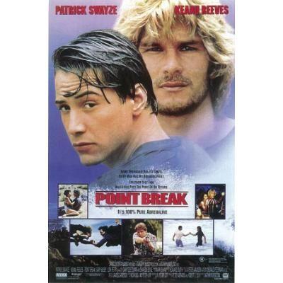 Point Break - Keanu Reeves Patrick Swayze Collage Movie Poster - 27x40