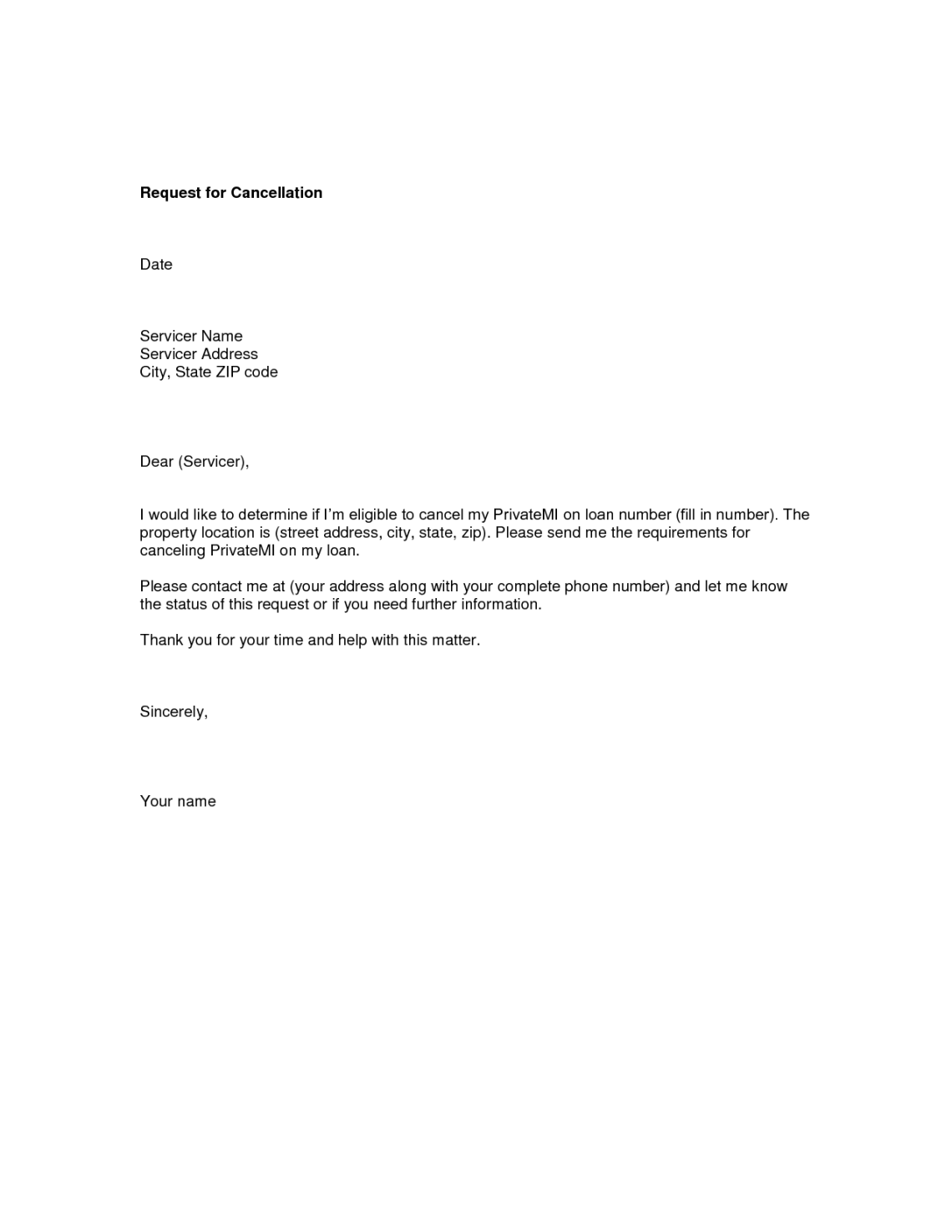 Sample Request Letter For Cancellation Visa Cover And