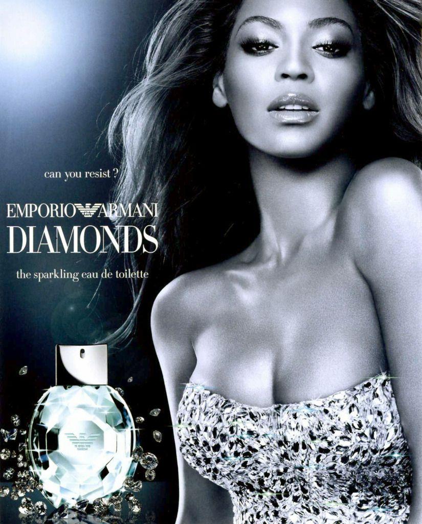 Beyonce emporia armani dimonds perfume ad www.telegaph.co.uk richard-k |  Armani diamonds, Giorgio armani perfume, Perfume ad