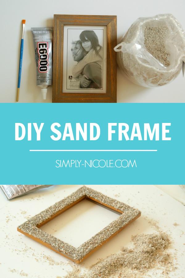 Diy Sand Frame Sand Art Diy Sand Crafts Diy Beach Decor