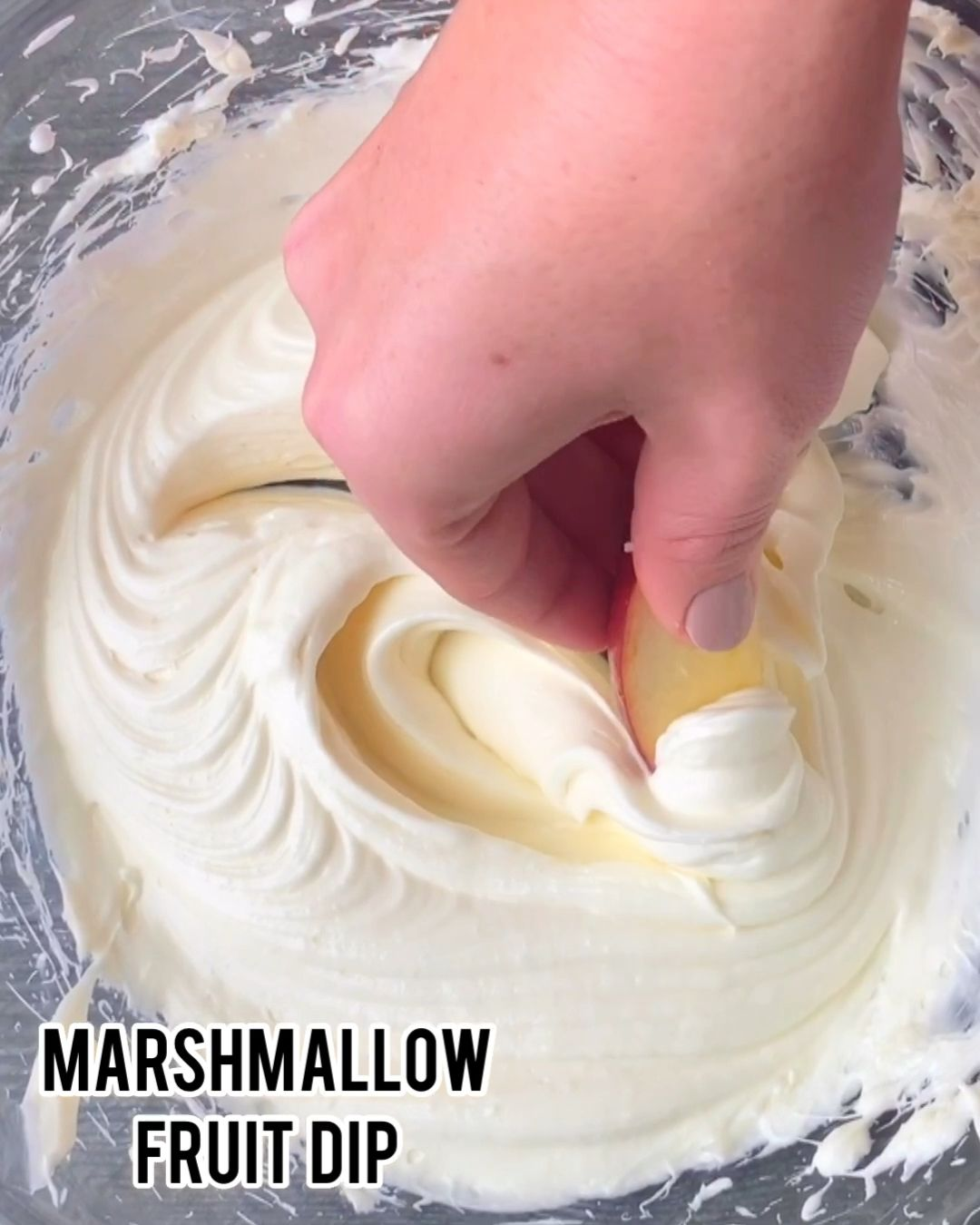 Marshmallow fruit dip is a 2 ingredient fruit dip that is super fluffy and amazing for fruit or pretzel dips. If you need a party snack in an instant, cream cheese and marshmallow fluff to the rescue!  #fruitdip #dip #appetizer #fruit