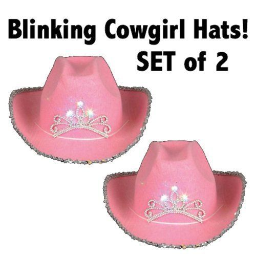 9bd1ee96cf34d Pink Blinking Cowgirl Hat (Set Of 2) - Child s  Toy