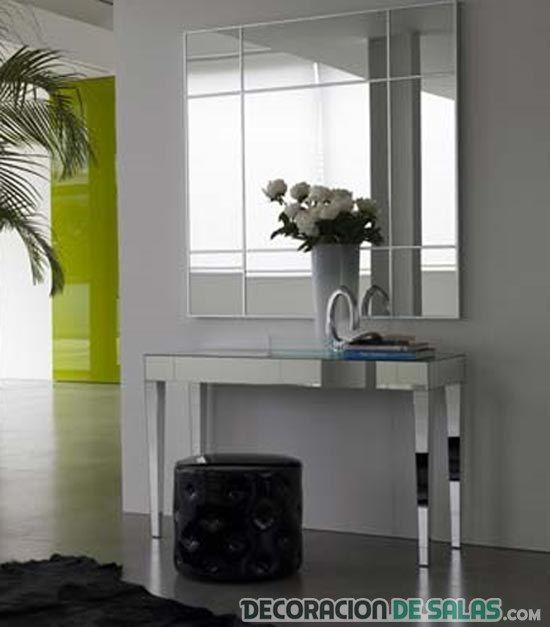 recibidor con mueble espejo | decoración hogar | Pinterest ...