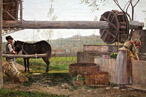 Il bindolo di Silvestro Lega, 1863  SILVESTRO LEGA (Modigliana, 8 dicembre 1826 – Firenze, 21 novembre 1895)   #TuscanyAgriturismoGiratola