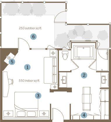 Napa Valley Luxury Spa Hotel In Yountville California Master Suite Layout Master Bedroom Plans Master Suite Floor Plan