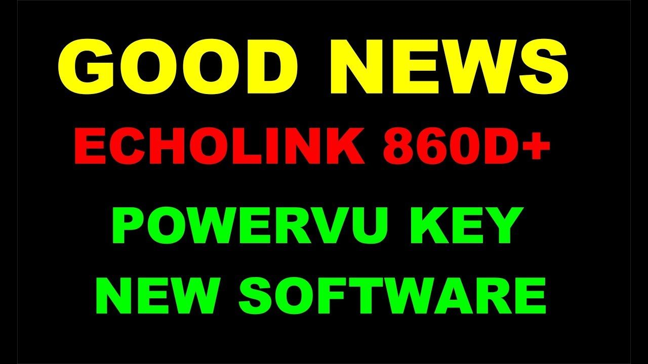 ECHOLINK 860D+ MULTIMEDIA 1506T HD RECEIVER POWERVU KEY NEW
