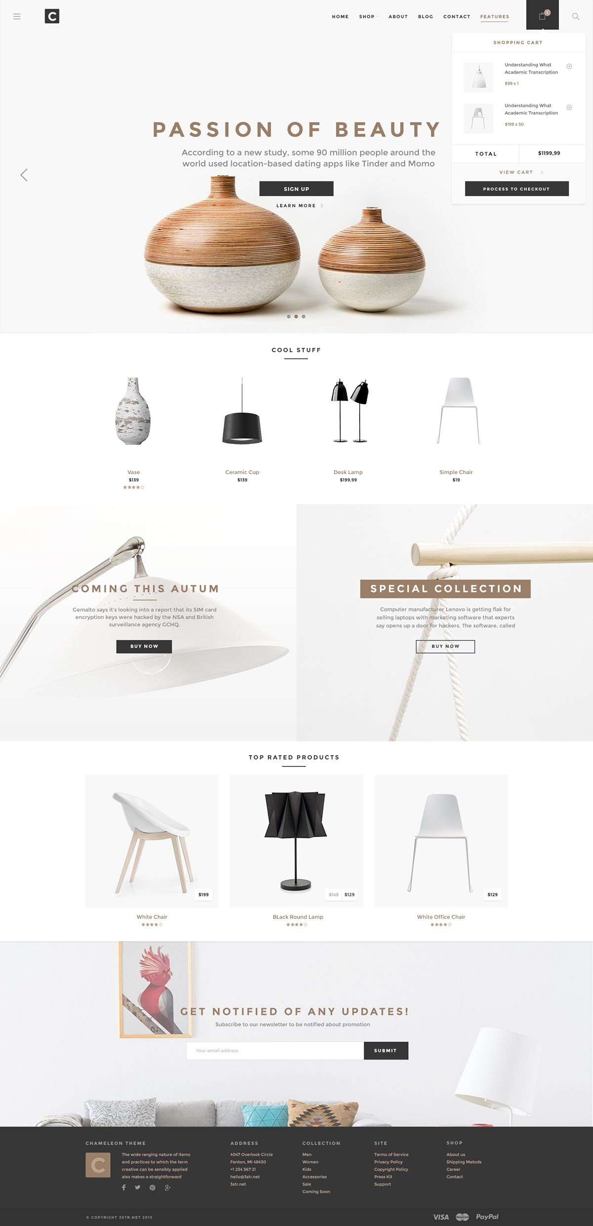 Chameleon Shop PSD Template is an unique eCommerce PSD template for on  online shopping store. Chameleon Shop PSD Template is an unique eCommerce PSD template