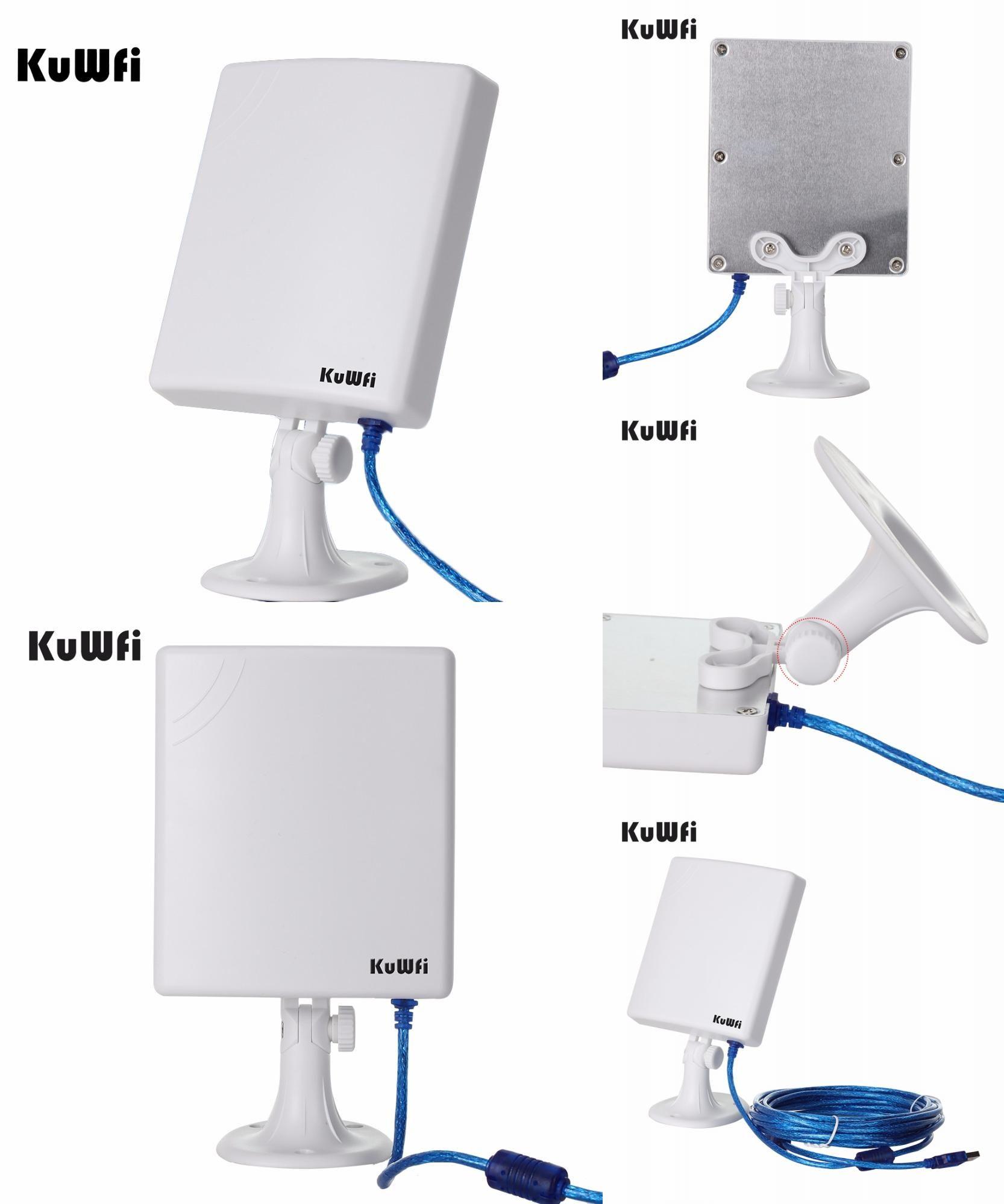 Visit To Buy Kuwfi 150mbps High Gain 14dbi Antenna 5m Cable Wireless Usb Adapter High Power Outdoor Waterproof 2 5km Long Range Wifi Receive Antenna Wifi Usb