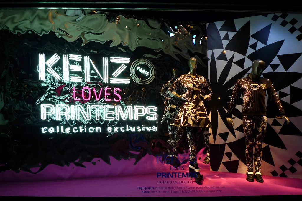 67067e36f484 Kenzo loves Printemps Visual Merchandising Fashion, Store Window Displays, Window  Display Design, Kenzo
