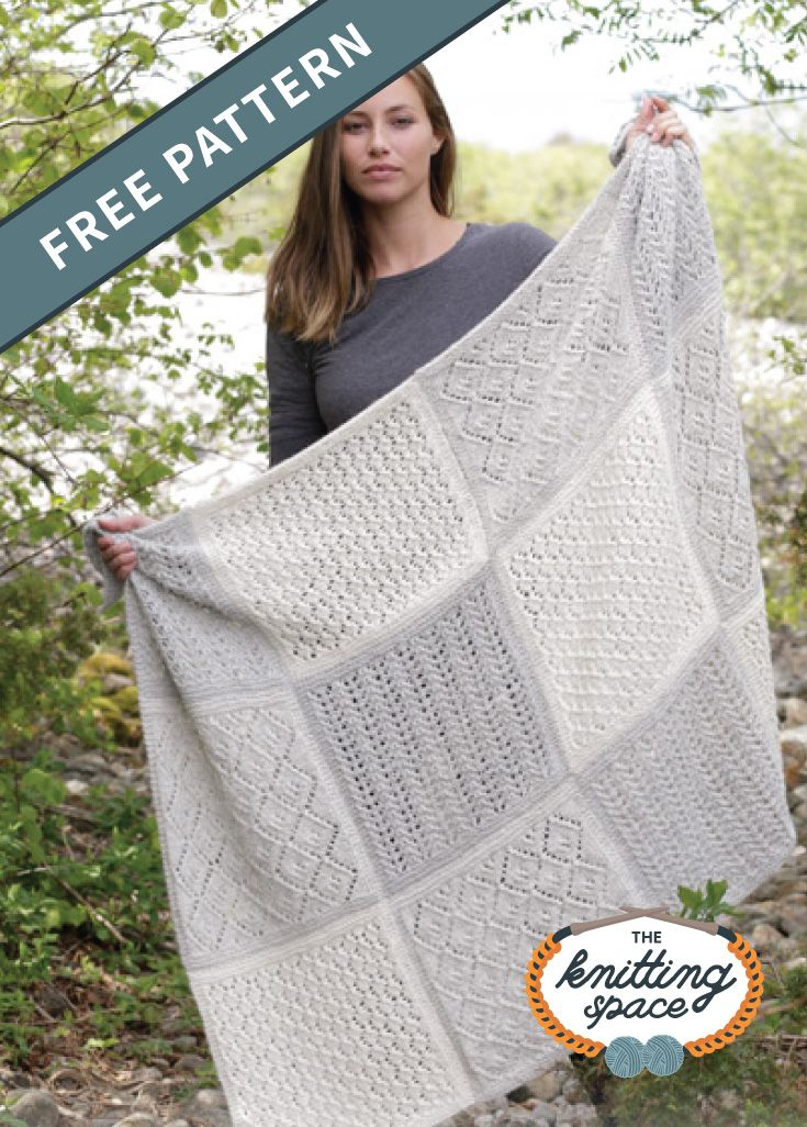 Twelve Clouds Knitted Blanket [FREE Knitting Pattern]