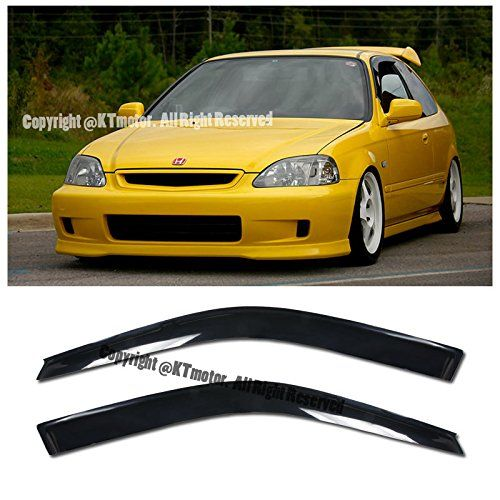 Amazon Com Fot 96 00 Honda Civic 2 3 Dr Coupe Hatchback Models Tape On Smoke Tinted Jdm Side Window Visors Rain Gu Honda Civic Coupe Honda Civic Civic Coupe