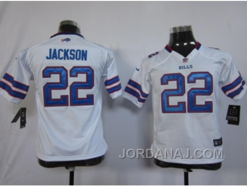 dbb7ca940 Nike Youth Nfl Jerseys Buffalo Bills  22 Jackson White