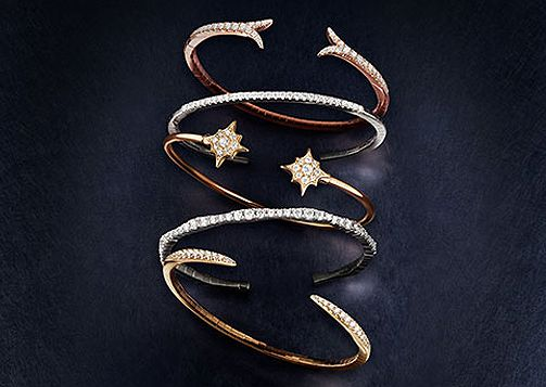 Gabriel & Co. Bangles are a great thought for your bridal party! Exclusively found at Raineri Jewelers.