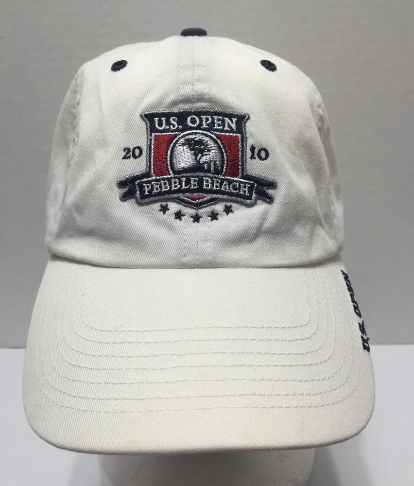 Us Open 2010 Pebble Beach Golf Baseball Cap Hat Usga White Strapback Usopen Baseballcapgolf