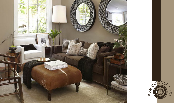 Walls With Dark Furniture | Live Colorful. Brown Sofa Grey WallsLiving Room  ...