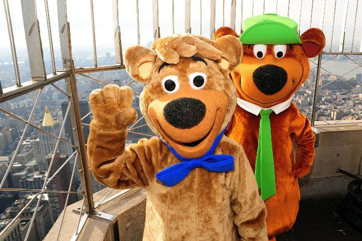 December 16 2010 The Empire State Building Hosts Yogi Bear And Boo Boo To Promote The New Film Yogi Bear A Live Action Computer Animated Adventure Filmed I