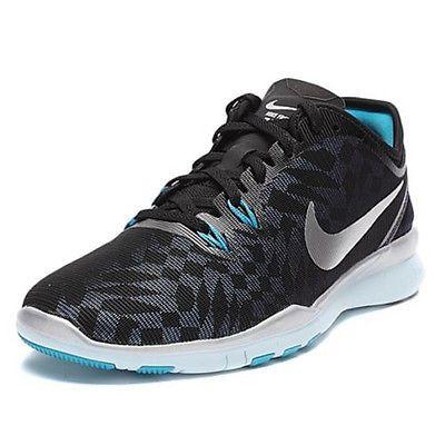 38e7385282a6 Nike Free 5.0 Tr Fit 5 Metallic Womens 806277-002 Black Training Shoes Size  8.5