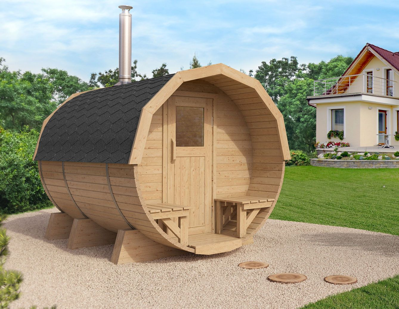 Isidor Fasssauna M2 Premium 2 96 Saunafass Tonnensauna Aussensauna Gartensauna In Heimwerker Sauna Schwimmbecken Saune Barrel Sauna Small Garden Pots Sauna