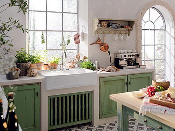 Küche im landhausstil Welt der schönen Dinge Pinterest - küchen im landhausstil