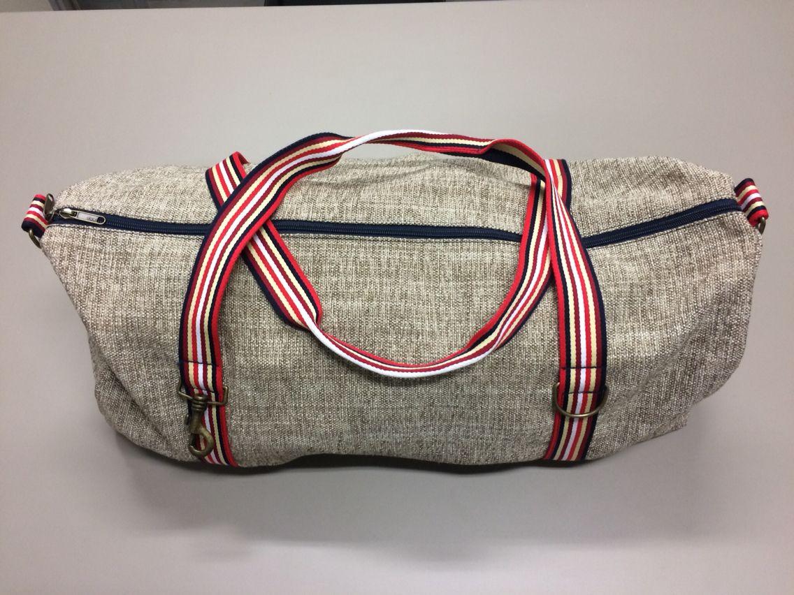 6 classic big bag l70cm x l45cm tessuto cotone m lange beiges corde cotone a righe blu. Black Bedroom Furniture Sets. Home Design Ideas