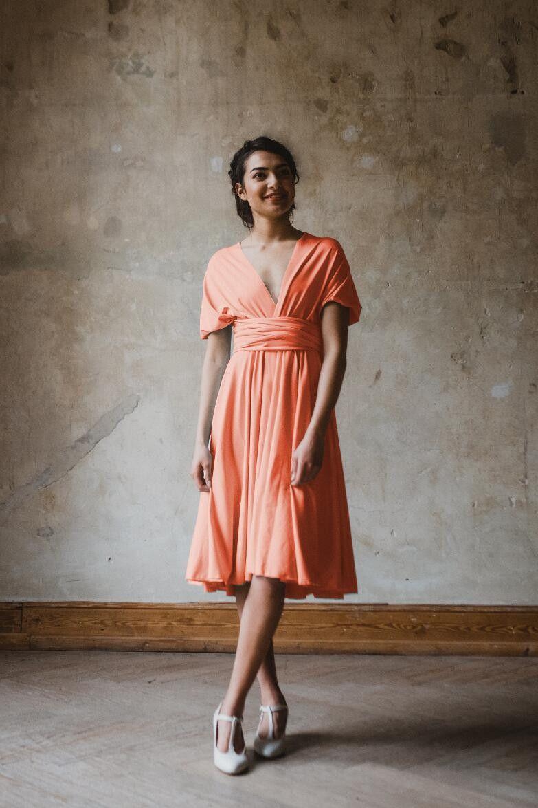 Jerseykleid Primrose kurz infinity dress Koralle  Etsy  Kleid
