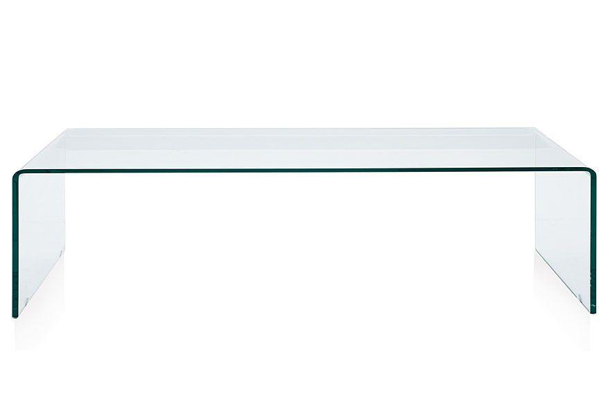 Mesa de centro moderna sarg esta preciosa mesa esta - Mesas modernas de cristal ...