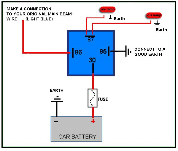 4 Pin Relay Wiring Diagram | Electricity