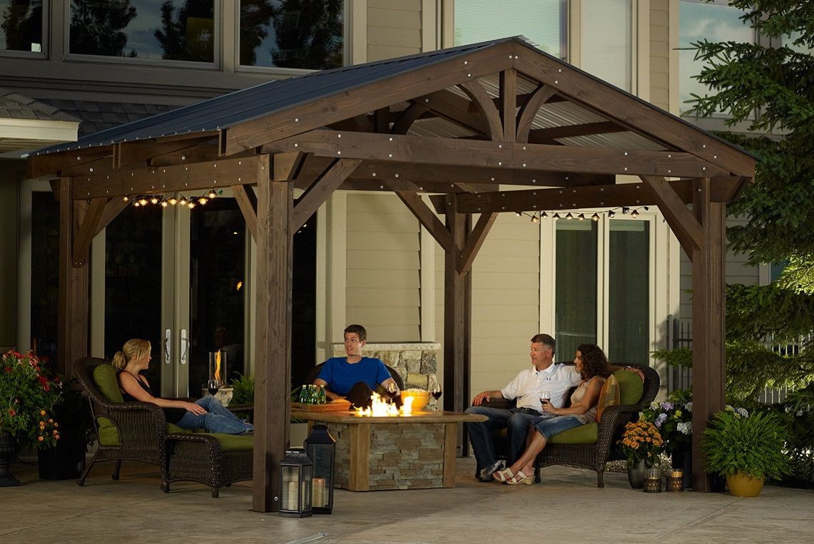 Outdoor Greatroom Lodge II - Covered pergola kit - PergolaKitsUSA.com - Lodge II Pergola Kit, $8,549 (http://www