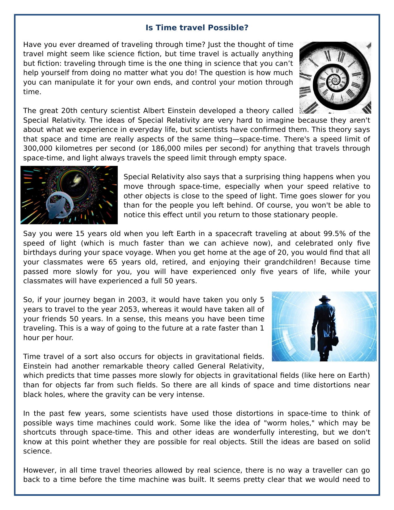Is Time Travel Possible Reading Comprehension Informational Text Teaching Resources Reading Comprehension Informational Text Comprehension [ 1651 x 1275 Pixel ]