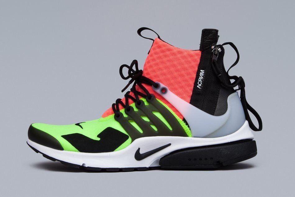 Nike Lab x acronym Air Presto Mid Lava Volt Black Med Euro Release Sz US 7  8… 311002154