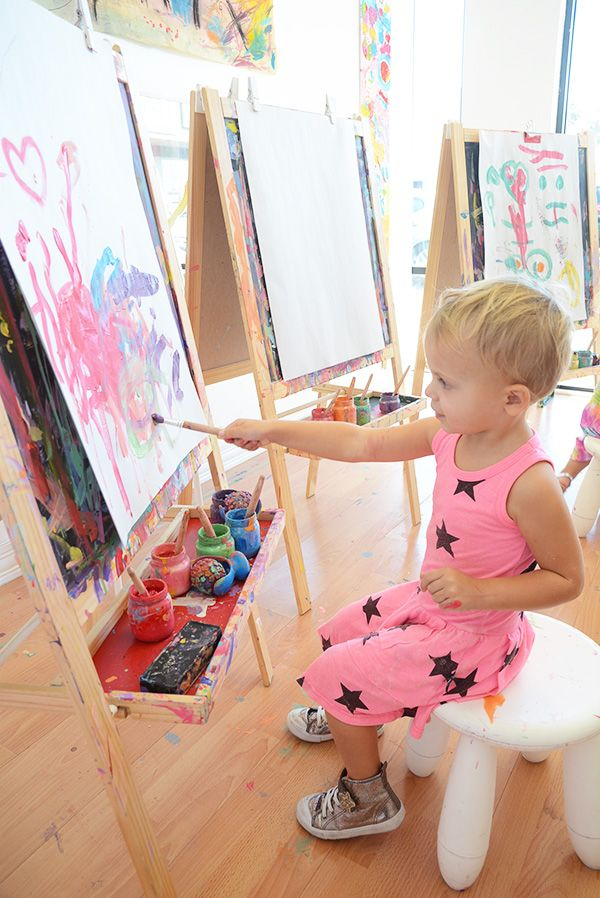 Easel Painting for Kids