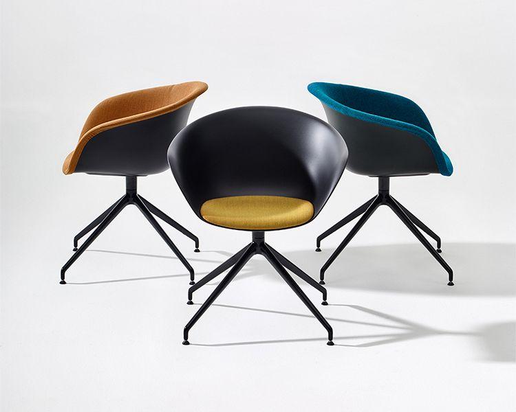 Duna 02 — Trestle swivel. Arper design furniture Arper